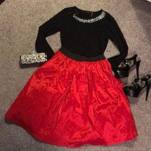 Torrid 00 Red Ball Skirt STUNNING